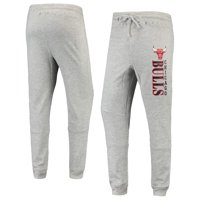 Men's Heathered Gray Chicago Bulls Curb Cuffed Tri-Blend Pants