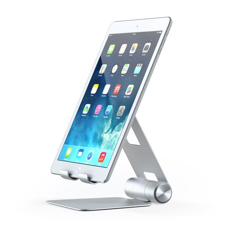 Ipod Stand (Satechi R1 Aluminum Multi-Angle Foldable Tablet Stand for iPad, iPad Pro, iPhone 7+, Samsung S8, MacBook 2015/2016, Microsoft Surface, Nintendo Switch and more (Silver))
