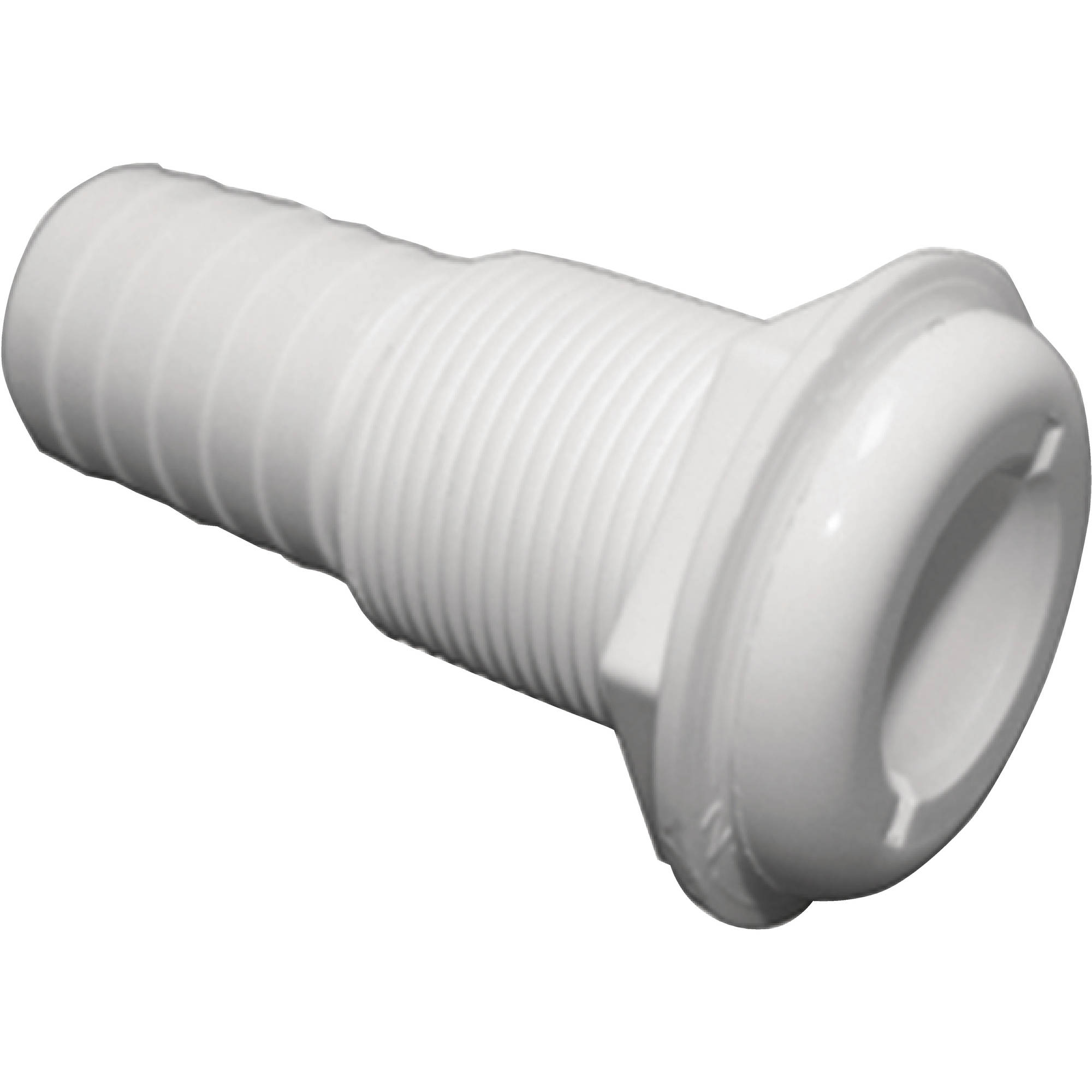 T-H Marine Straight Extra Long Thru-Hull Fitting For Hose, White by T-H Marine Supplies