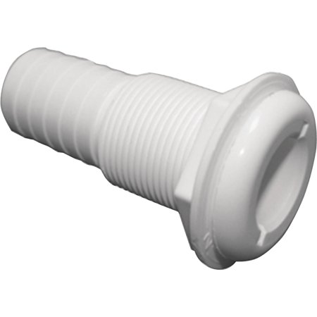 T-H Marine Straight Extra Long Thru-Hull Fitting For Hose, White