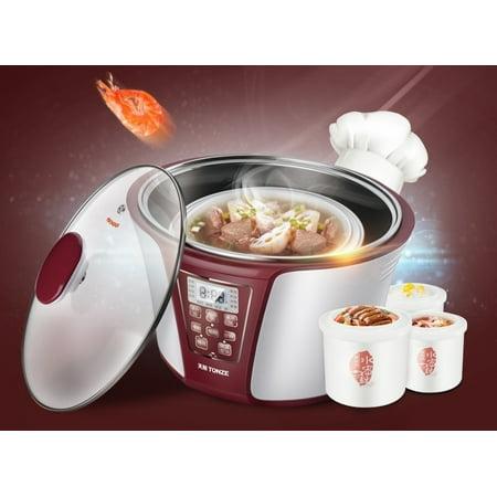 Tonze 4-In-1 Smart Electric Stew Pot Ceramic Pot Slow Cooker DGD32-32EG 3.2L+0.6L+0.45L - image 1 of 8