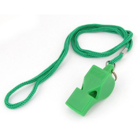 Outdoor Sports Game Lobster Hook Green Neck Strap Plastic Referee Whistle
