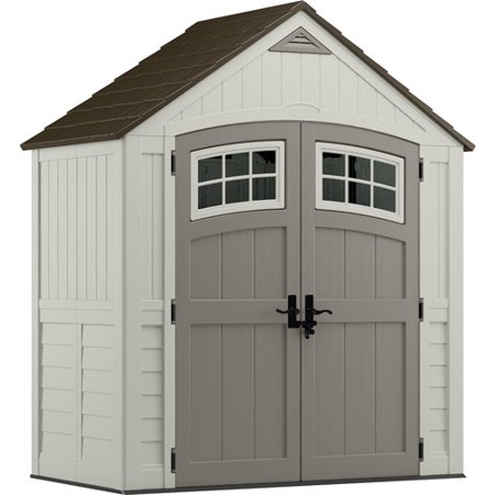 Resin Cascade Storage Shed 7 X 4 - Vanilla/Gray - Suncast