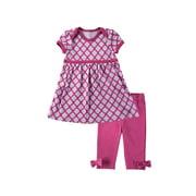 Hudson Baby Girl Dress and Leggings