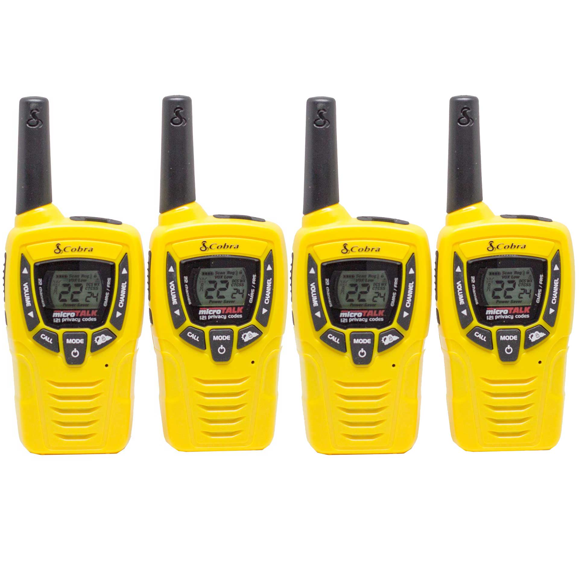 Cobra 23 Mile 22 Channel Walkie Talkie VOX NOAA Receiver Radios CX335 (2 Pairs)