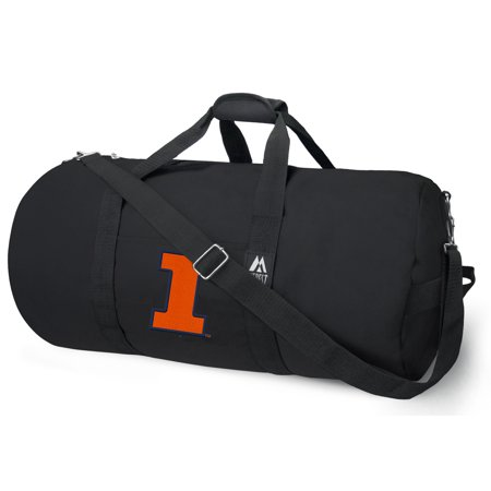 Illini Duffel Bag Or Illinois Gym With Tough Metal Hardware