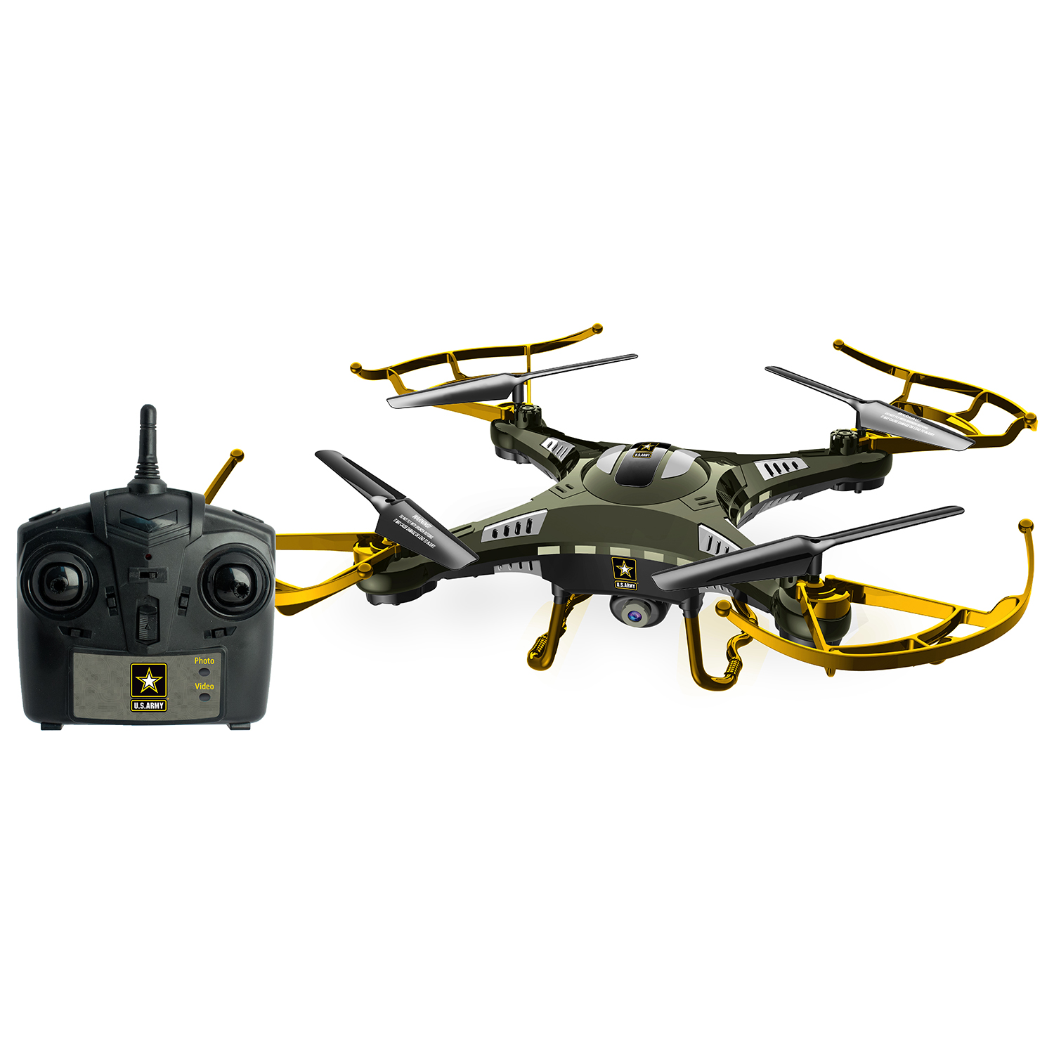 US Army RC Scout American Army Quadcopter Drone with Camera and Remote Control by US Army