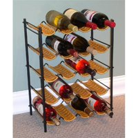 4D Concepts 263015 Wicker Wine Rack- Wicker-Metal