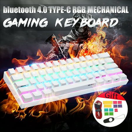ANNE PRO 2 Gateron Brown Switch 60% RGB Mechanical Gaming Keyboard, Dual Mode Connection USB &