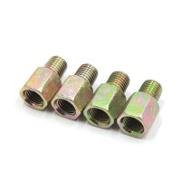 4Pcs 10mm Thread Dia Metal Rearview Mirror Screw Bolt Adapter for Motorcycle