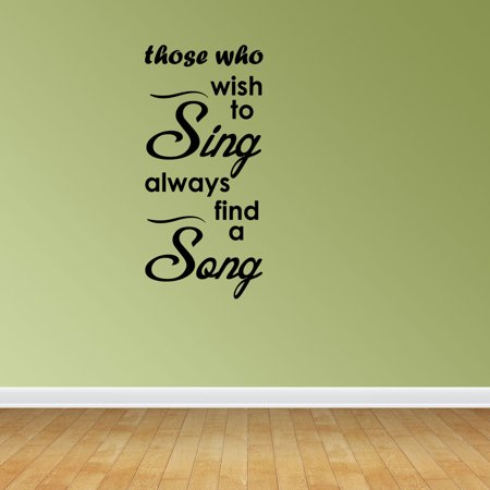 Halloween Theme Song Music (Sing A Song Music Decal Vinyl Wall Decals Music Quote Musical Theme)