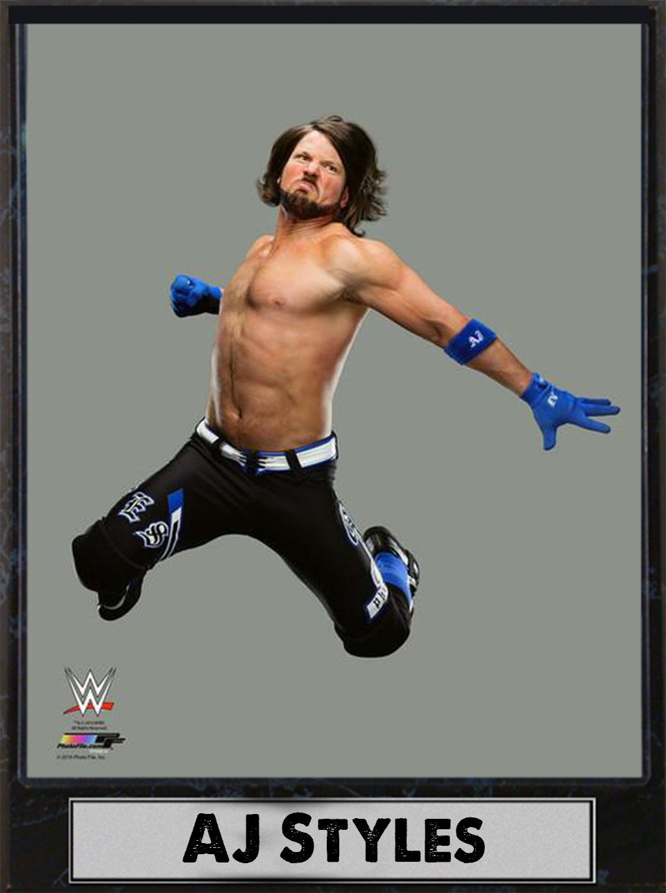 9x12 Photo Plaque AJ Styles by Encore Select
