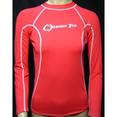 Womens Rashguard Pink Sports Shirt Performance Moisture