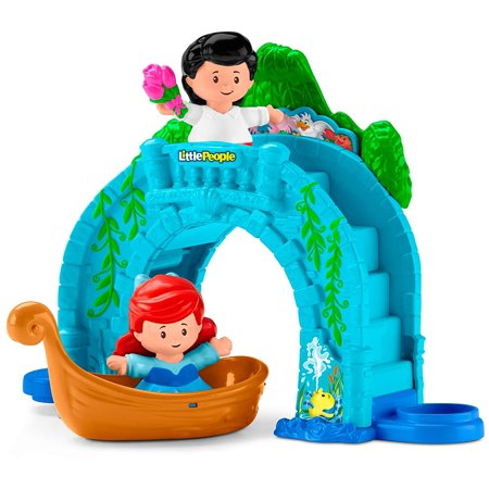 Fisher-Price Little People Disney Princess, Ariel Vehicle Playset, Press the Discovery Button to see Ariel's friends pop up! By