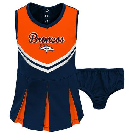 online store 56e77 1e4e4 Toddler Orange/Navy Denver Broncos Cheerleader Dress & Bloomers Set