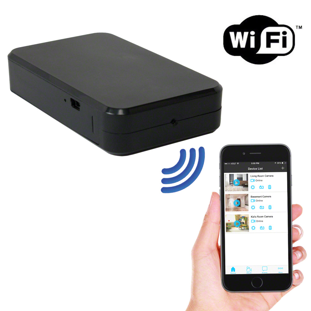 SpygearGadgets® 1080P HD WiFi Internet Streaming Pro Grade Mini Black Box Hidden Spy Camera