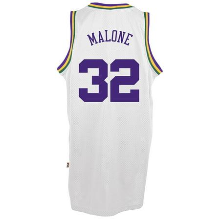 Karl Malone Utah Jazz Adidas Soul Swingman Jersey (White) by