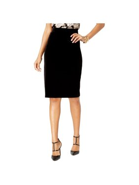 Alfani Womens Velvet Pencil Skirt, Black, X-Small