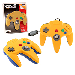 TTX Tech - Wired Controller for Nintendo N64 (Yellow-Blue)