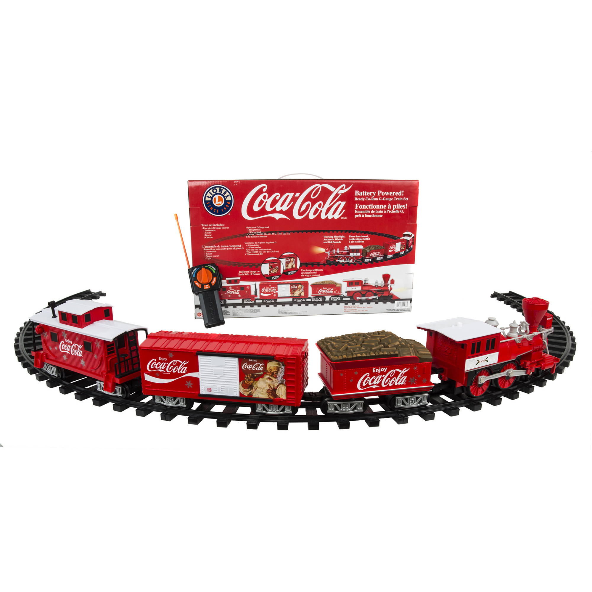 Lionel Trains Coca-Cola G-Gauge Ready to Run Set