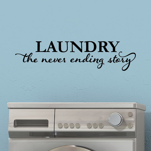 Belvedere Designs LLC Laundry Never Ending Story Wall Quotes  Decal