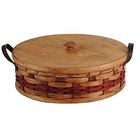 Amish Handmade Single Pie Carrier Basket