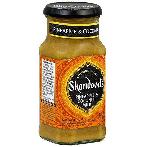 Sharwood's Pineapple & Coconut Milk Cooking Sauce, 14.1 oz (Pack of 6)