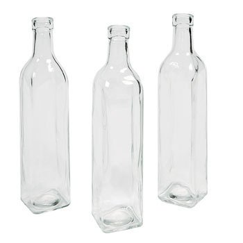Square Clear Bottle Vases 10