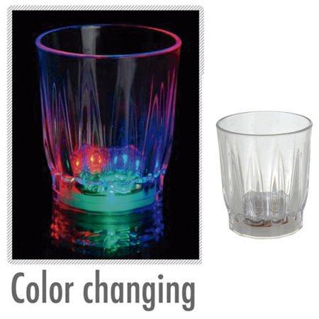 12 Light Up Shot Glasses LED Flashing Drinking Blinking Barware Party Glass Lot