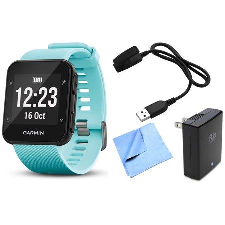 Garmin Forerunner 35 GPS Running Watch & Activity Tracker with Accessories Bundle (Frost Blue)