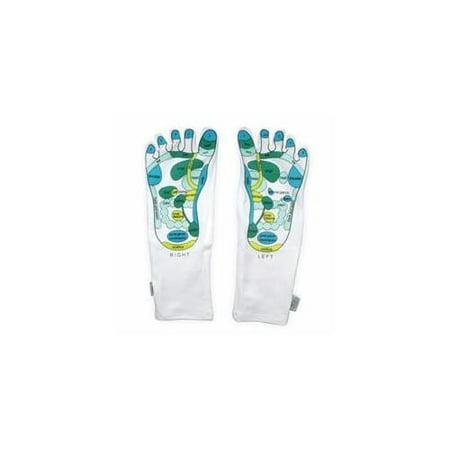 Living Health Products mosi-soc-art-1 Reflexology Socks Moisturizing socks - Gel Booties (1 Pair)
