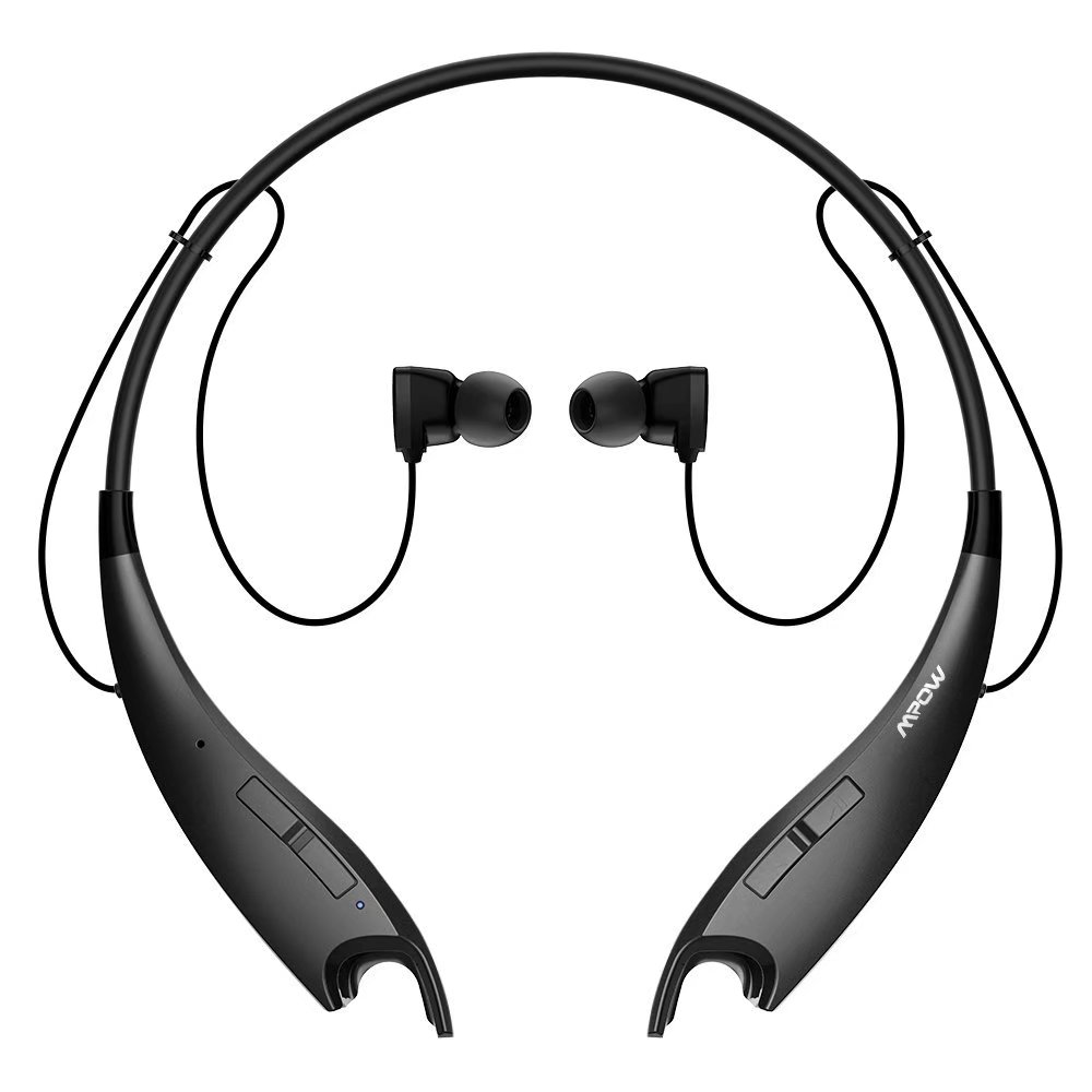 Mpow Jaws Wireless Bluetooth 4.1 Stereo Headset Universal Headphone with Hands Free Calling (Black)