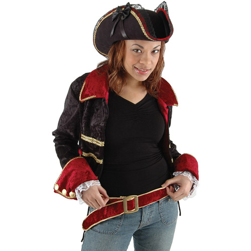Lady Buccaneer Black Hat Adult Halloween Accessory
