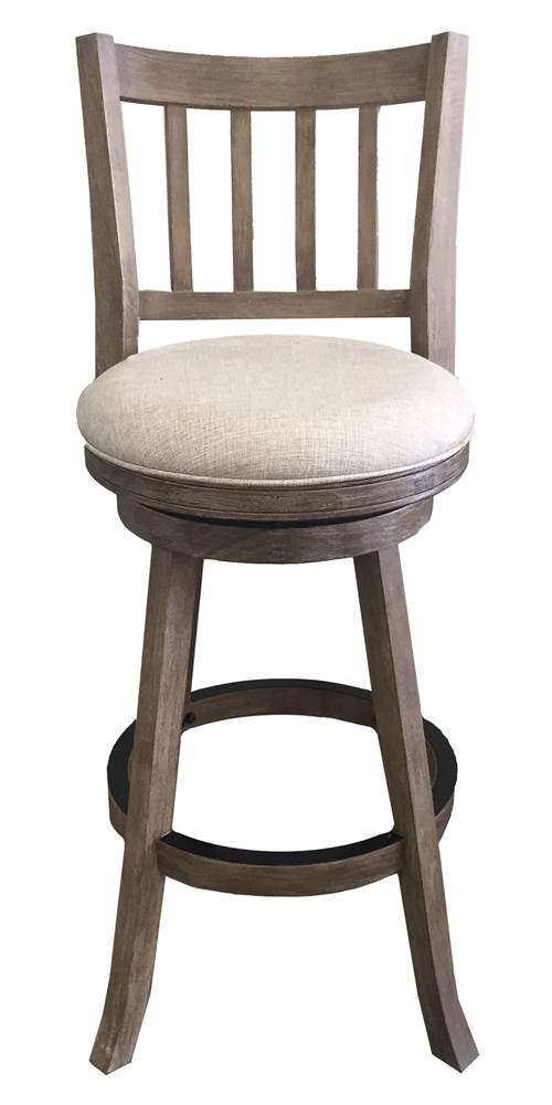 29 in. Swivel Wire Brush Bar Stool in Brownish Gray by Boraam