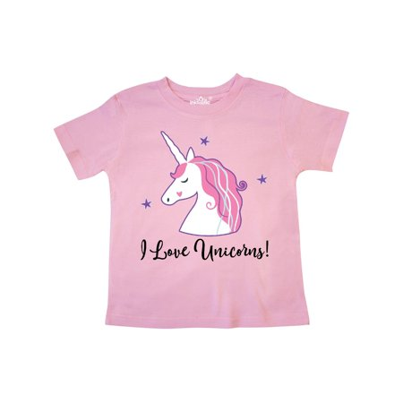 Unicorn Girls Cute Fantasy Gift Toddler T-Shirt (A Girls Fantasy)