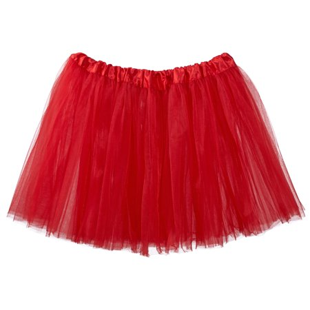 Adult Tutu Skirt, Classic Elastic 3 Layer Tulle Tutu for Women and Teens - (80's Fashion Tutu Skirts)