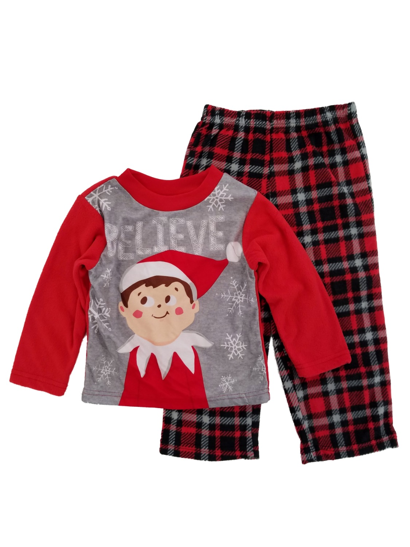 2T Briefly Stated Elf On The Shelf Unisex Pajama Set