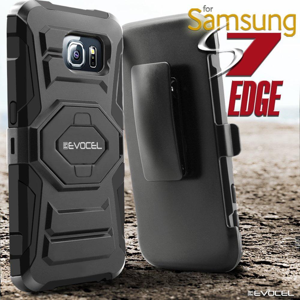 galaxy s7 edge case evocel belt clip holster kickstand dual