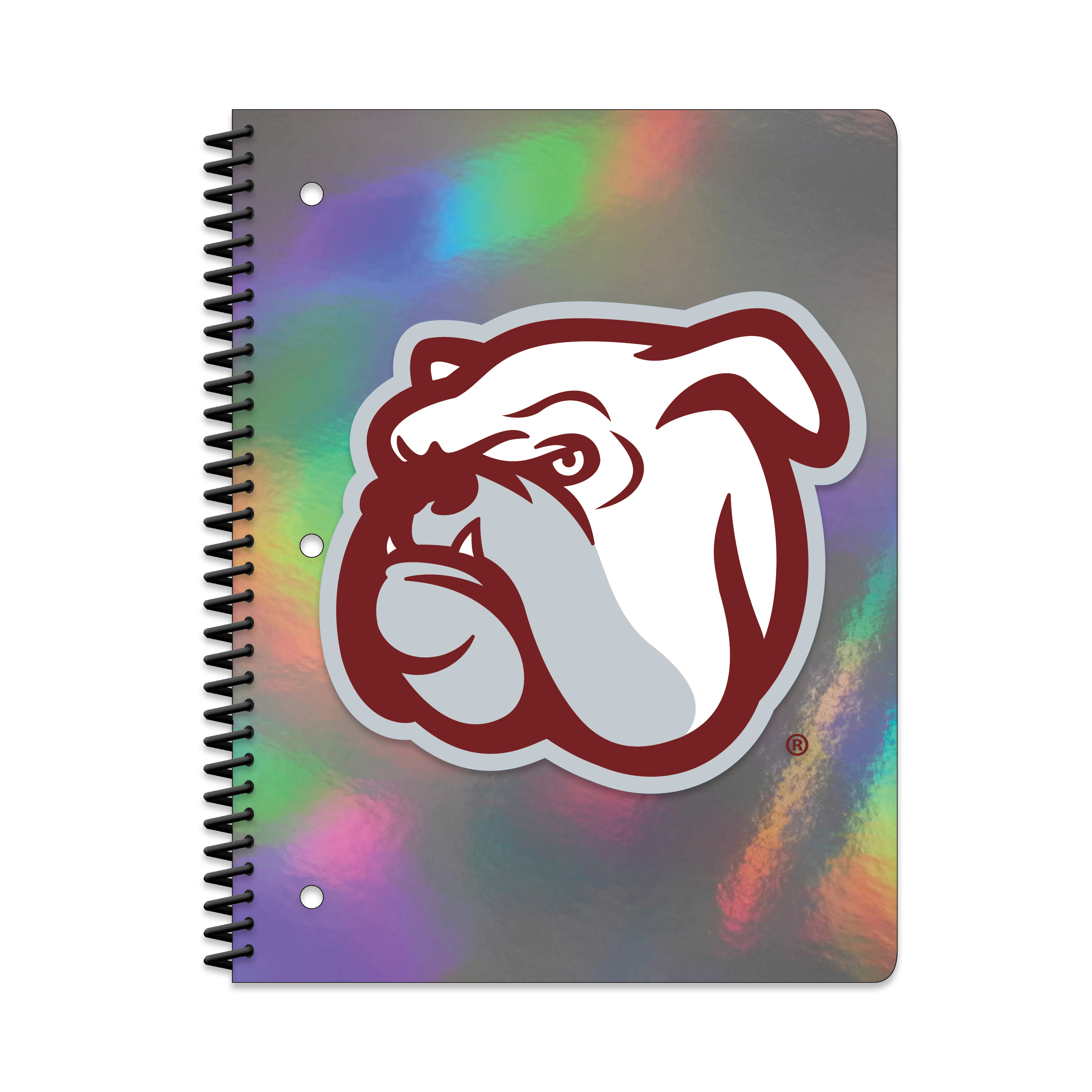 MISS ST BULLDOGS HOLOGRAPHIC 1-SUBJECT NOTEBOOK