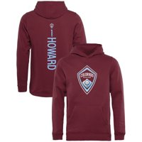 Tim Howard Colorado Rapids Fanatics Branded Youth Backer Name & Number Pullover Hoodie - Burgundy