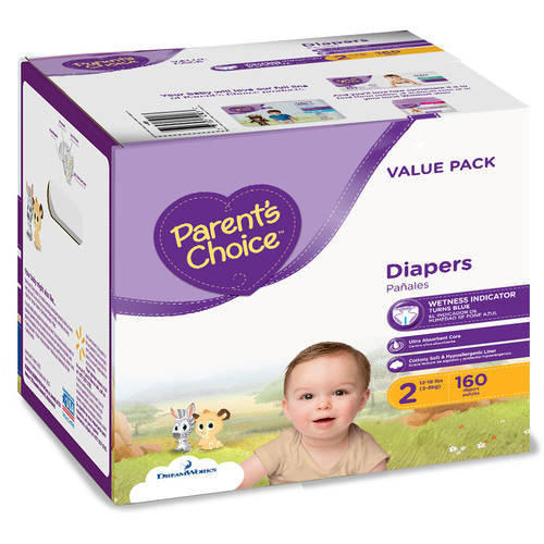 Parent's Choice Diapers, Size 2 (Choose Diaper Count)
