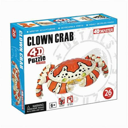 Build Your Own Clown Crab Model 4D Puzzle (26 Pieces) - Make Your Own Puzzle