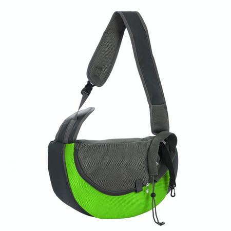 Green Soft Carrier (Pet Dog Carrier Strap Backpack Bag Holder Handbag for Travel L Size Green )