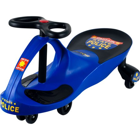 Ride on Toy, Police Car Ride on Wiggle Car by Hey! Play! – Ride on Toys for Boys and Girls, 2 Year Old And Up - 1 Year Old Outdoor Toys