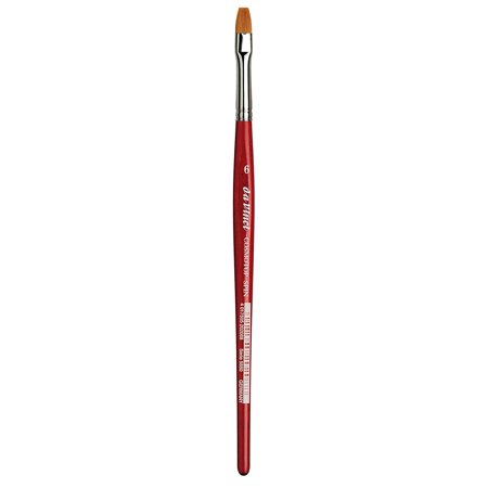 da Vinci Watercolor Series 5880 CosmoTop Spin Paint Brush, Flat Synthetic with Red Handle, Size 26, A blend of 5 different diameters of extra smooth fiber.., By da Vinci Brushes From USA (Spin Paint)
