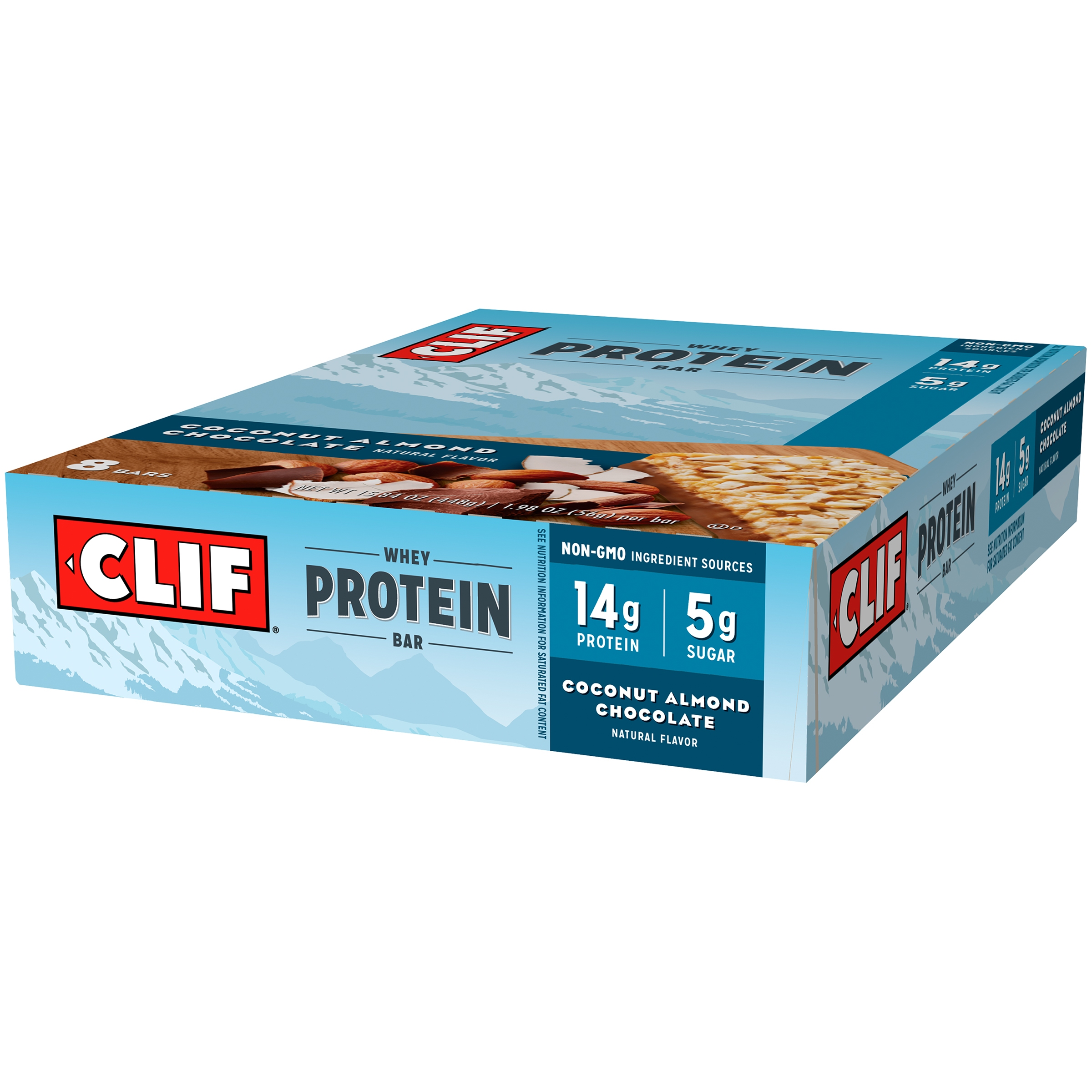 Clif® Coconut Almond Chocolate Whey Protein Bars 8-1.98 oz. Bars