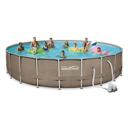 Summer waves elite 22 39 x 48 premium frame above ground for Summer waves above ground pool review