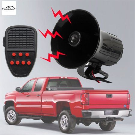 On Clearance Grtsunsea Loud 12V 100W 7 Sounds 150dB Tone Horn Siren Speaker Alarm for Car Van Auto Boat Police - Novelty Car Horns