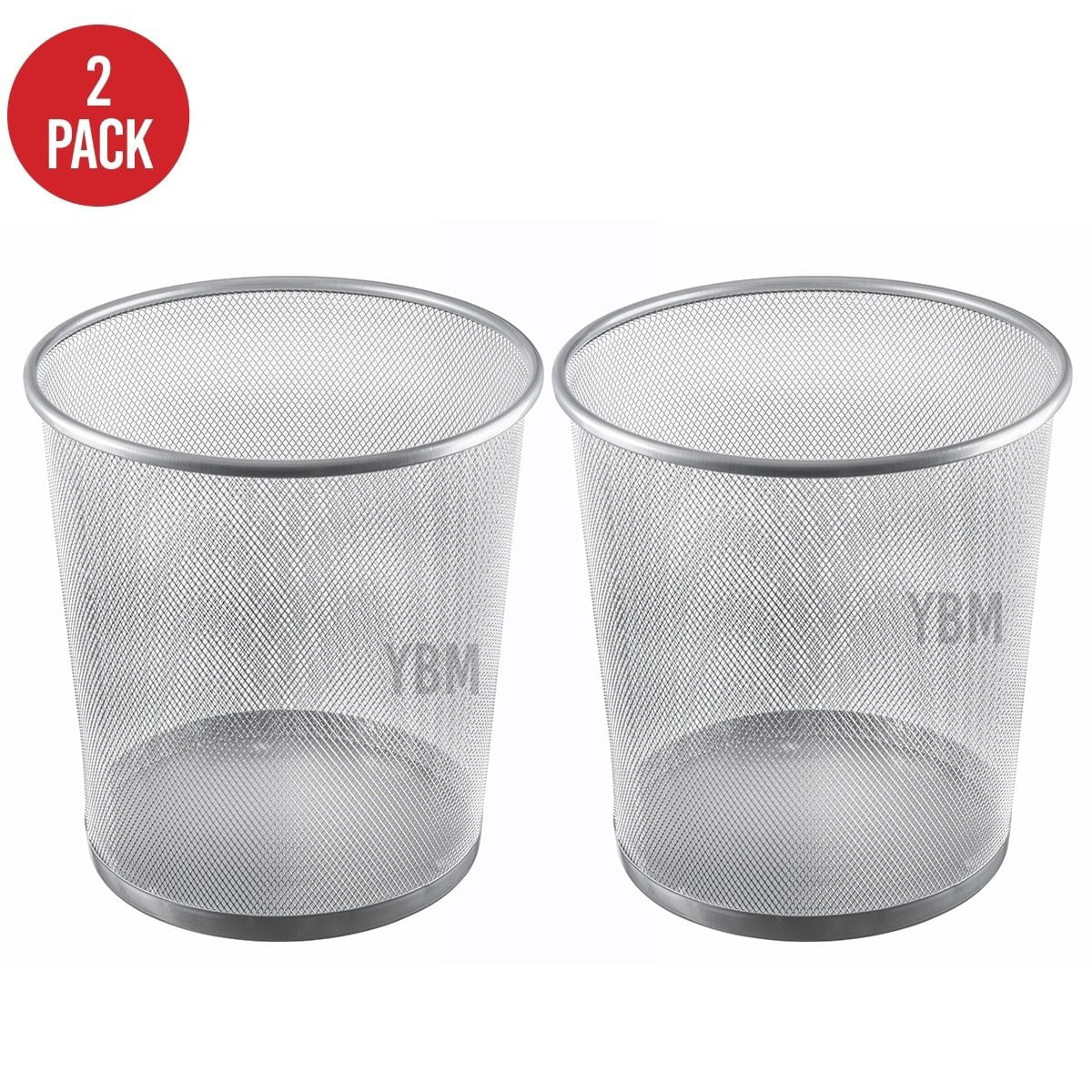 Ybmhome Steel Mesh Round Open Top Waste Basket Bin Trash Can Sold per 6 Pieces