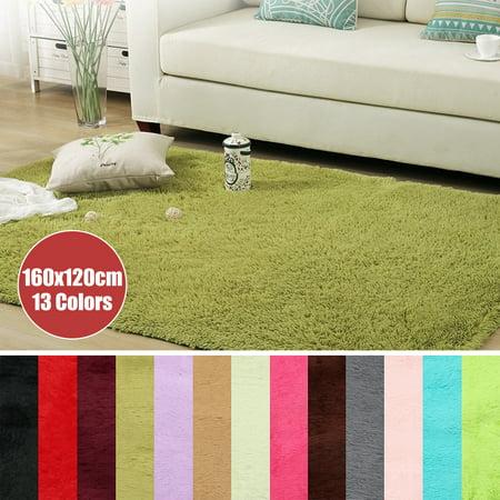 63x47.2''/160x120cm 13 Colors Modern Soft Non-Slip Fluffy Floor Rug Anti-skid Shag Shaggy Area Rug Bedroom Dining Room Carpet Yoga Mat Child Play Mat - Red Carpet For Sale